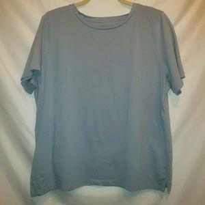 Eileen Fisher classic timeless light blue tshirt